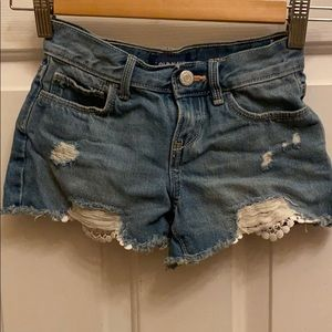 Youth girl's Old Navy Jean Shorts